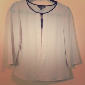 Express Blouse with Cut Out in Front. Cute!